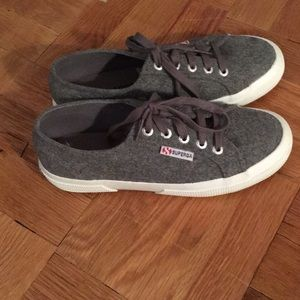 New without tags grey wool superga sneakers